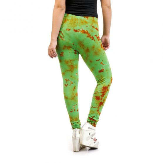 Tie & Dye Green and Rust Tight