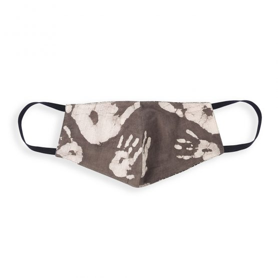 cotton face mask with hand print