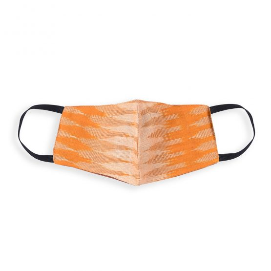 cotton face mask in ocher multi colors