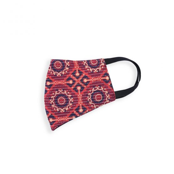 Cotton Face Mask Maroon Anchor Stitch