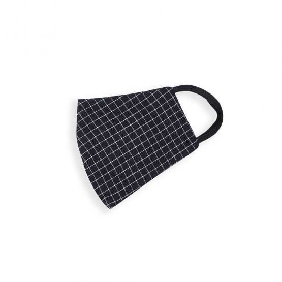 cotton face mask with black checks